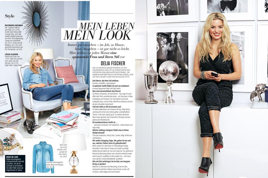 Astrid M Obert Photography presents Delia Fischer Mein Leben mein Look for Petra Magazin